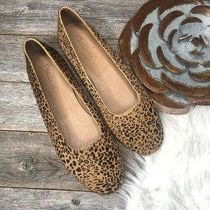 New Madewell Flats 7.5 Leopard Print Calf Hair (NW